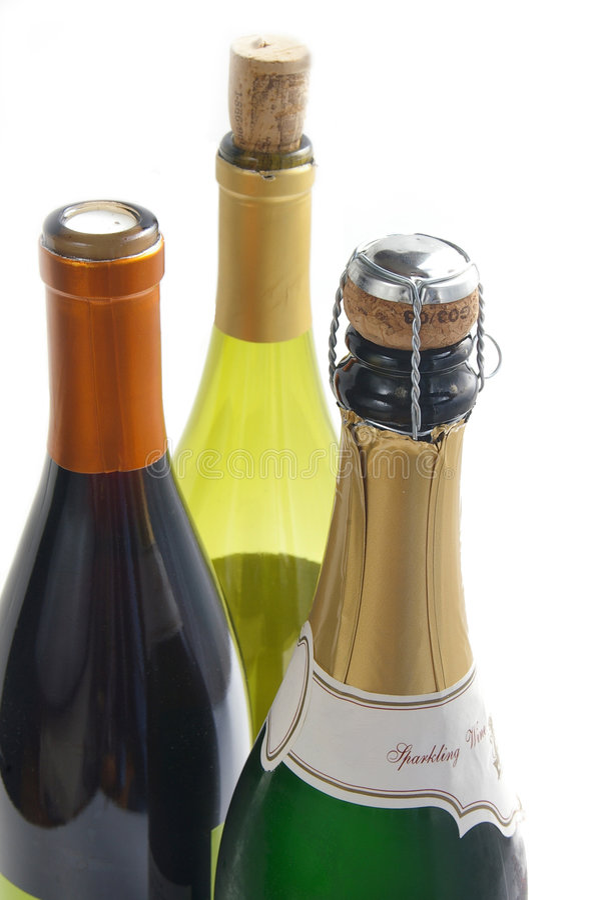 Champagne en wijn royalty-vrije stock foto