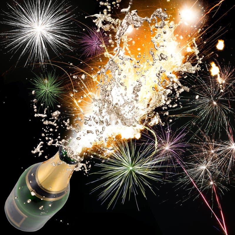 Stock Image Champagne Explosion Close Up Celebration Theme Image353358...