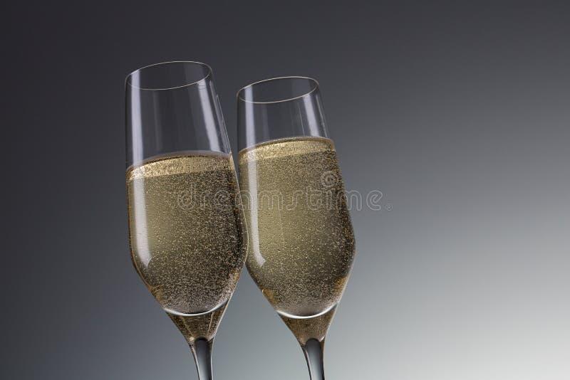 Champagne för ett jubileumparti arkivbild