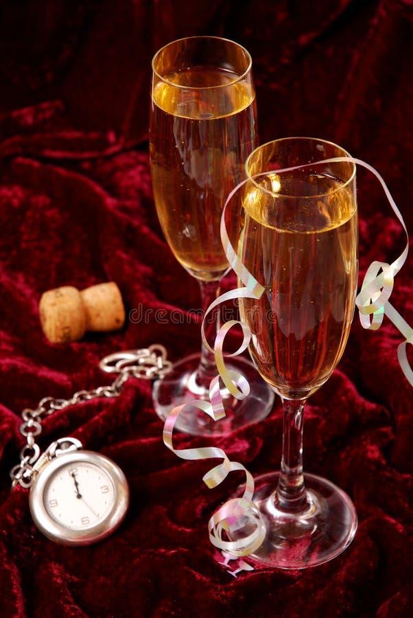 Champagne für neues Jahr lizenzfreies stockbild