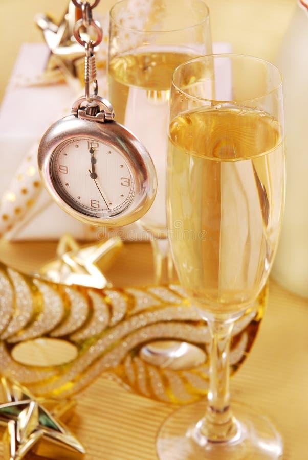 Champagne für neues Jahr stockbild
