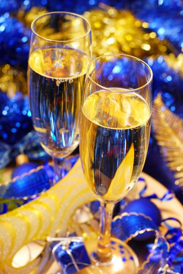 Champagne für neues Jahr lizenzfreie stockfotografie