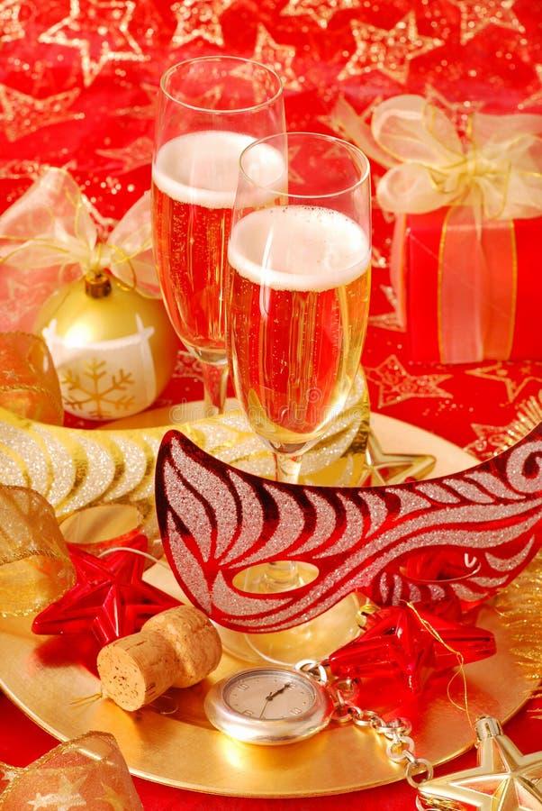 Champagne für neues Jahr stockfoto