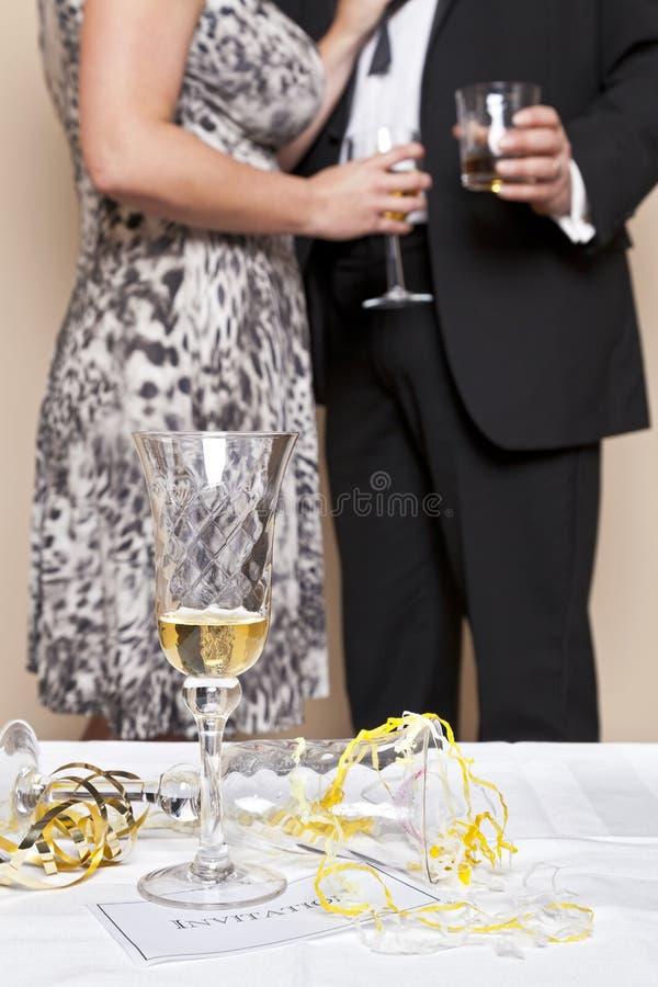 Champagne-Feier. stockfotos