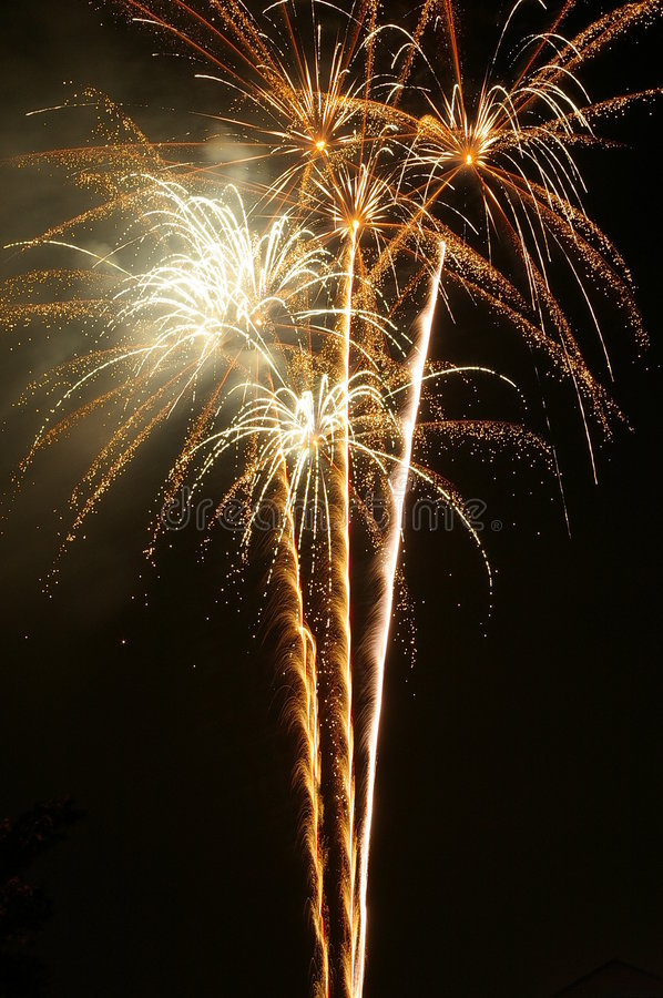 Champagne Fireworks stock images