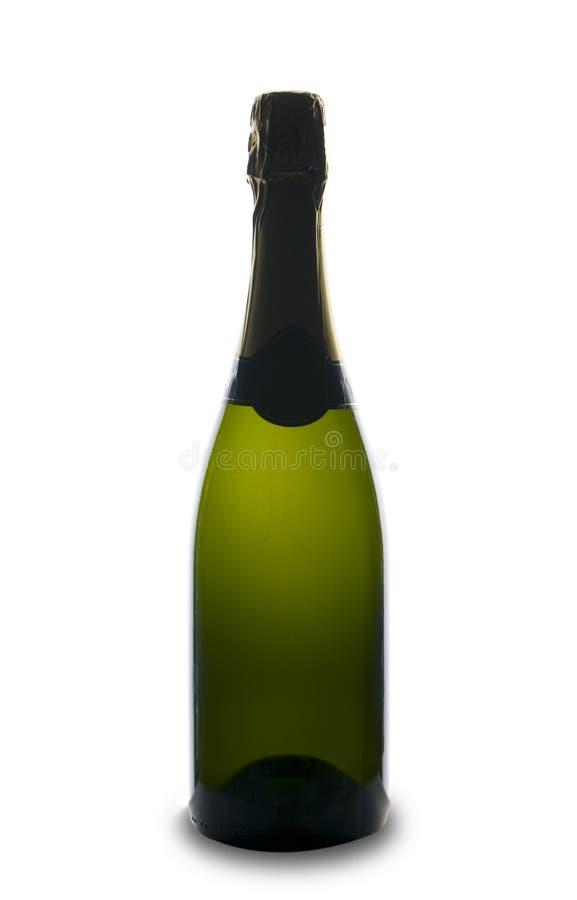 Champagne-Flaschenfeier lizenzfreies stockbild