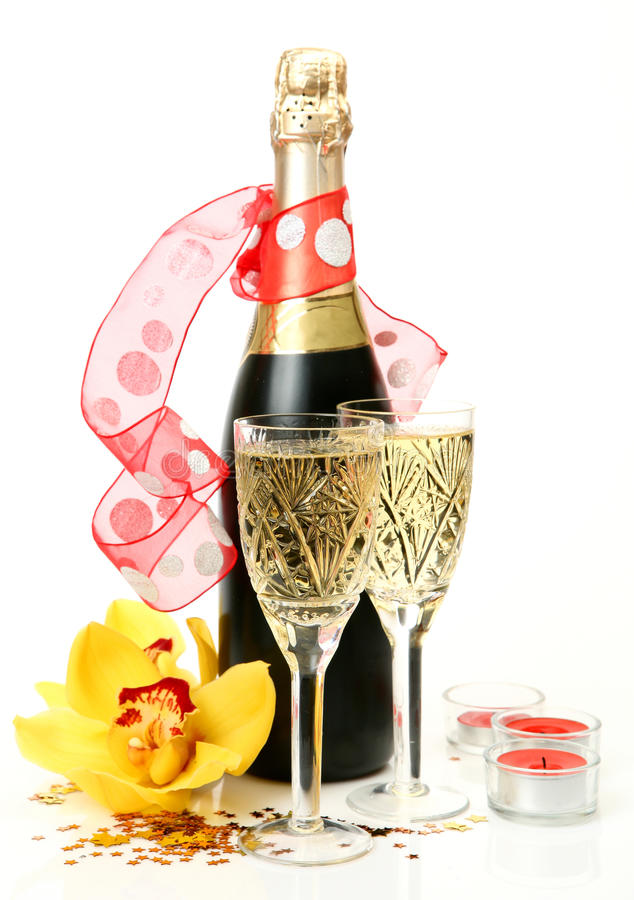Download Champagne and flowers stock image. Image of natural, pleasure - 23436173