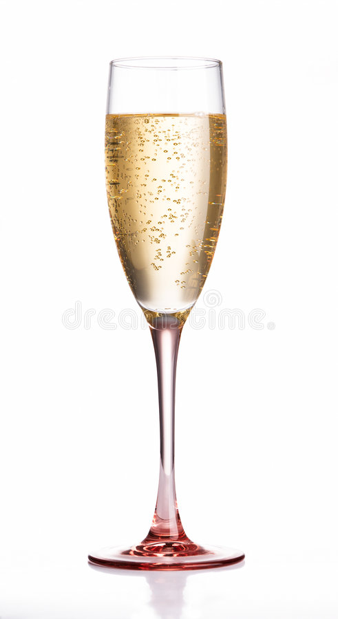Champagne flute glass royalty free stock photos