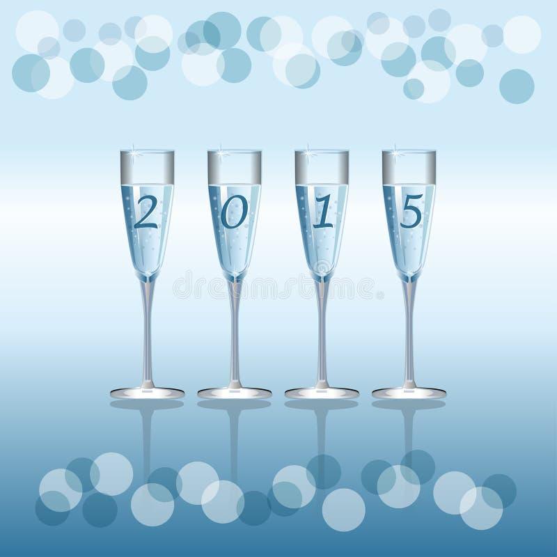Champagne Flutes ilustração royalty free