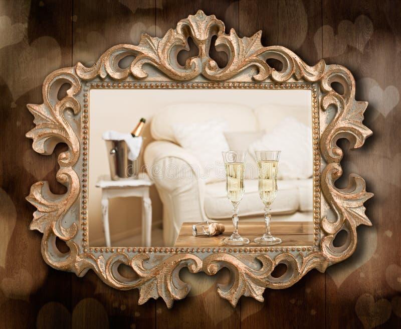 Champagne Frame stockbilder