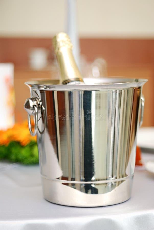Champagne freddo fotografia stock libera da diritti
