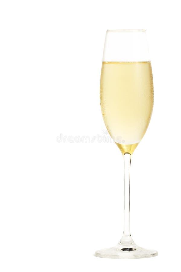 Champagne freddo in un vetro del champagne immagini stock libere da diritti