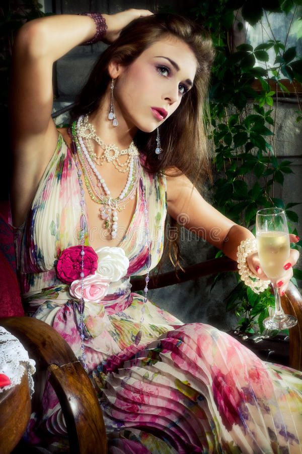 Download Champagne in garden stock photo. Image of serenity, sensual - 14893740