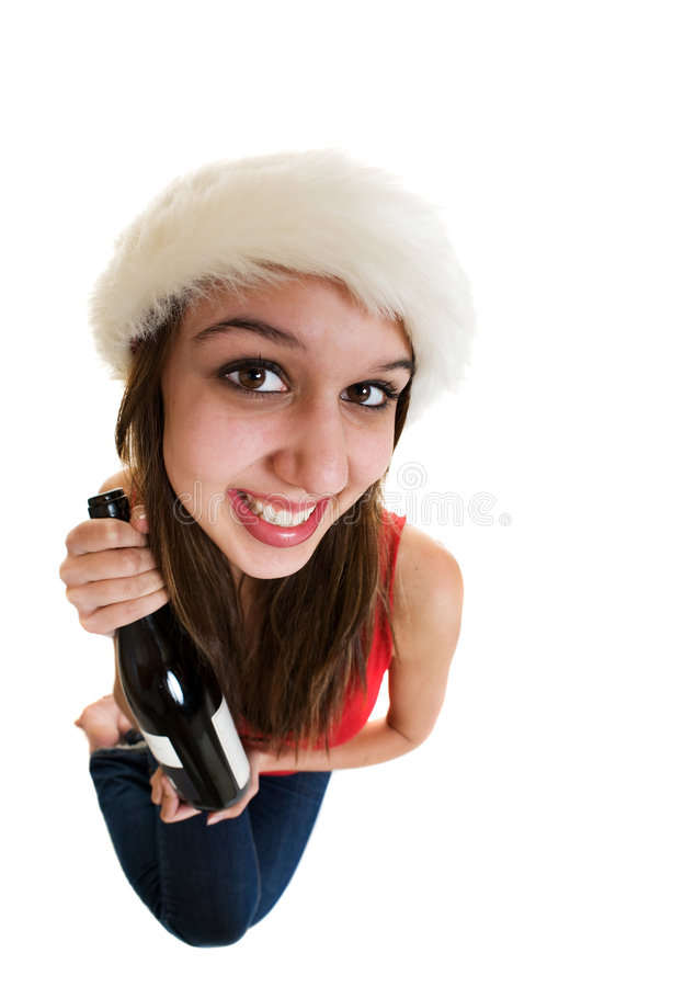 Champagne girl royalty free stock photos
