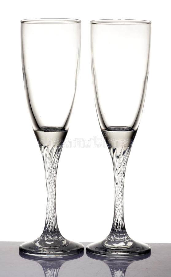Champagne-Gläser stockbild