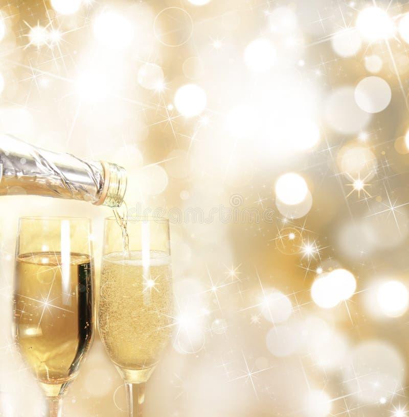 Champagne-Gläser stockbilder