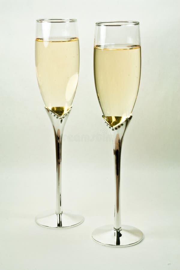 Champagne-Gläser stockfoto