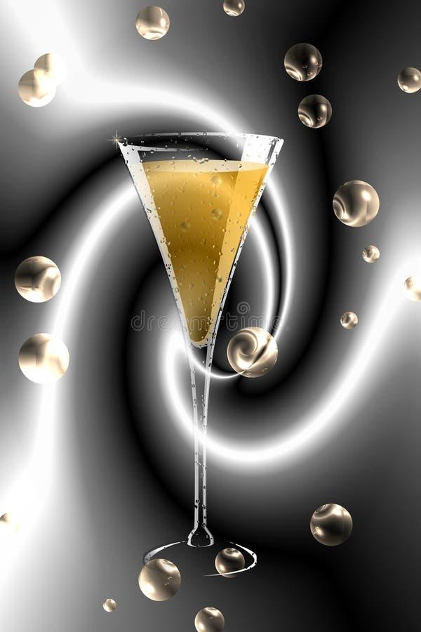 Champagne-Glas. Stockfotos
