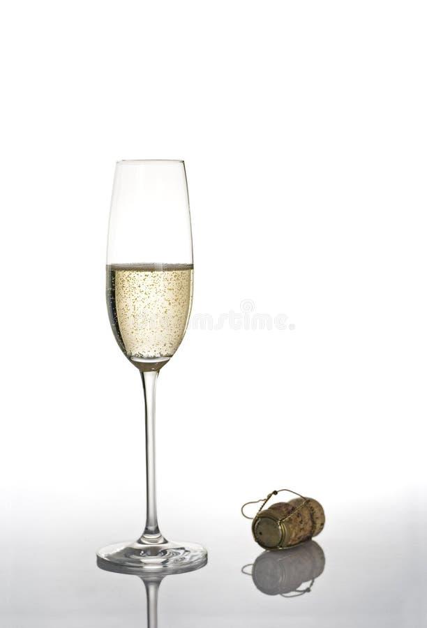 Champagne-Glas lizenzfreie stockfotografie