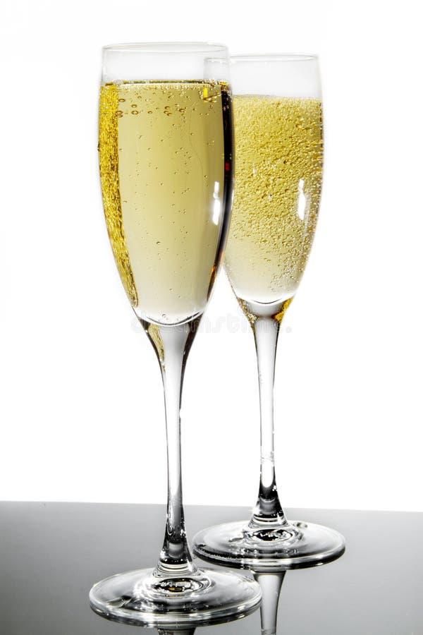 Champagne-Glas stockfotos