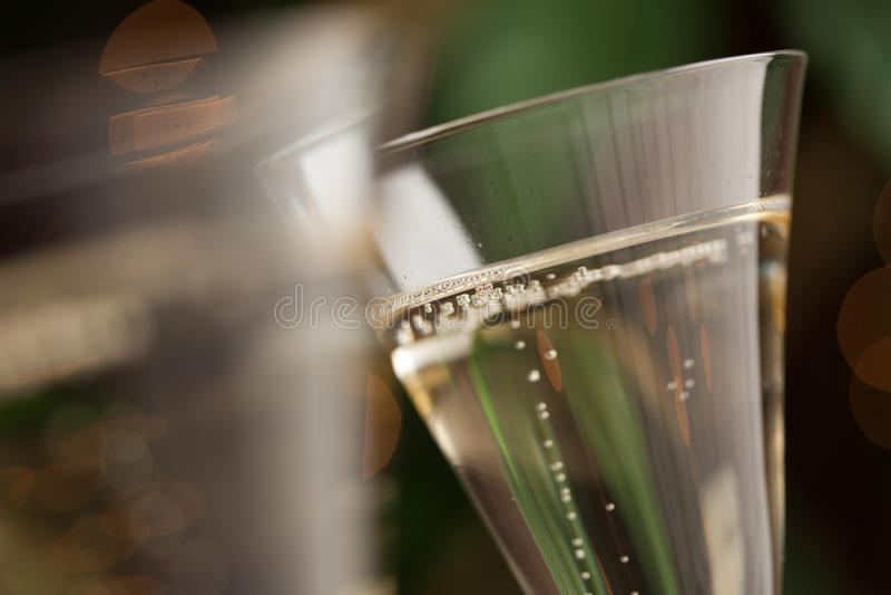 Champagne-Glas-Auszug stockfotografie