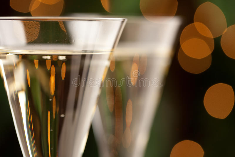 Champagne-Glas-Auszug lizenzfreie stockbilder