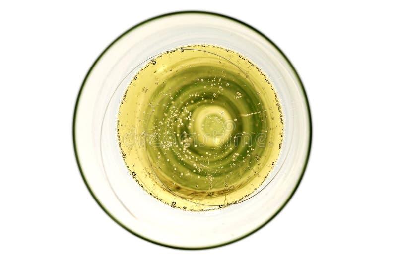 Champagne-glas met bellen royalty-vrije stock afbeelding