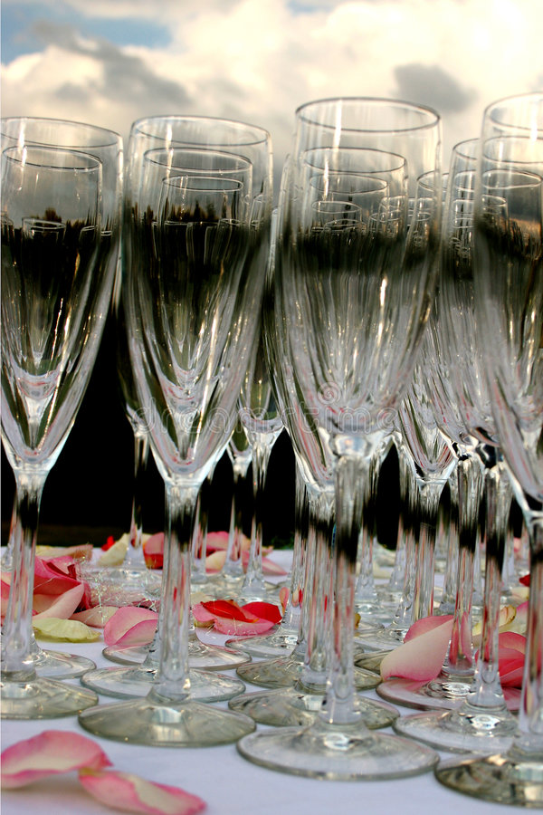 Champagne glases stock images