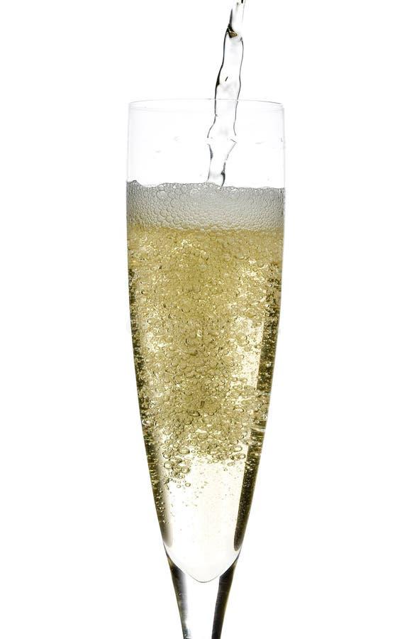 Champagne-Glasfeier stockbild