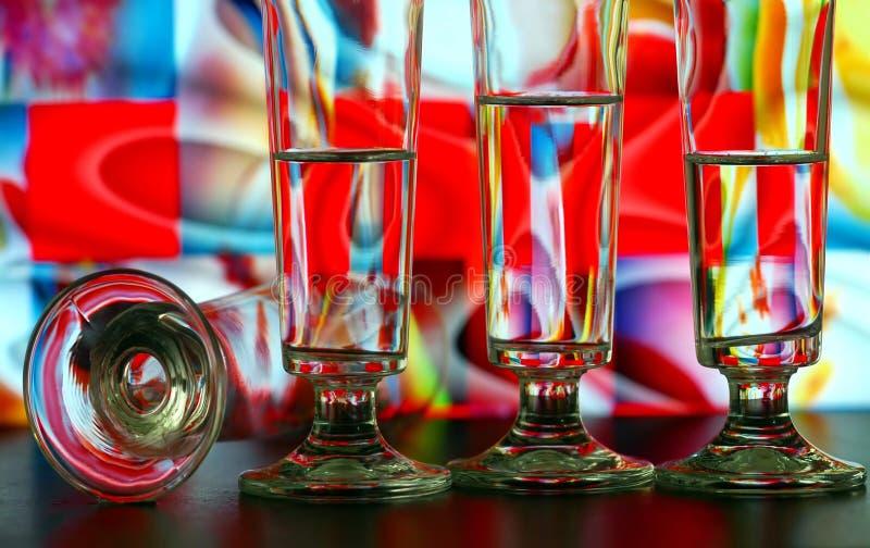 Champagne-Glasmuster lizenzfreie stockfotos