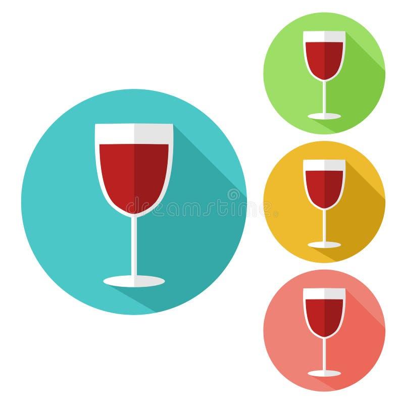 Champagne-glaspictogram stock illustratie