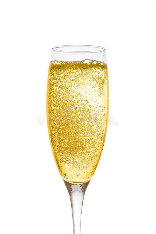 Champagne in glass stock image