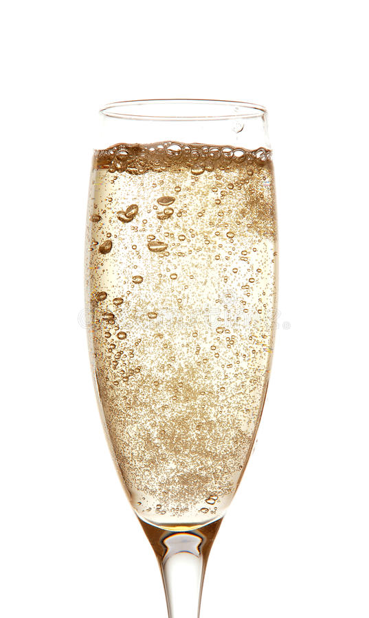 Champagne in glass stock photography