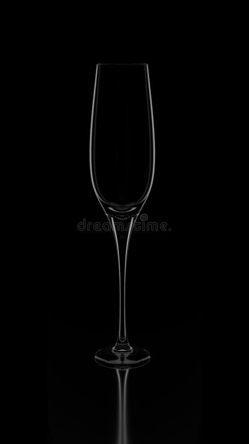 Champagne Glass Silhouette lizenzfreie stockfotos