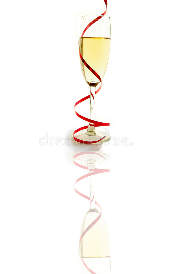 Champagne glass twirl royalty free stock photography