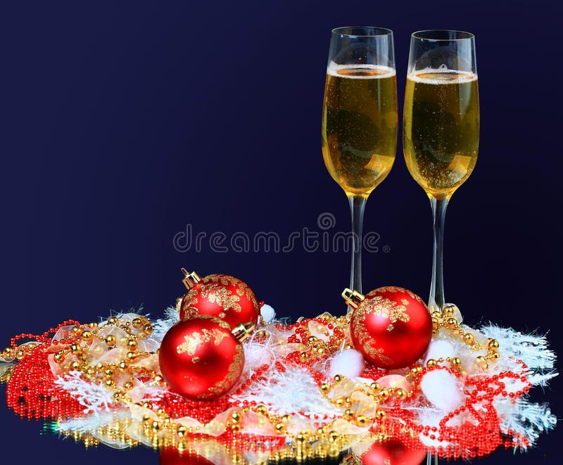 Champagne glasses on royalty free stock images