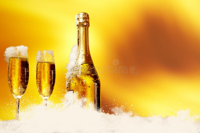 Download Champagne glasses stock image. Image of happy, clock - 28058965
