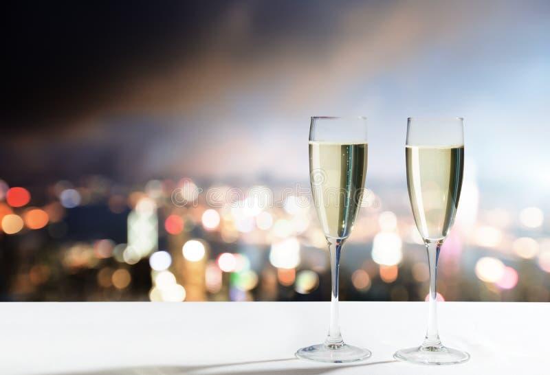 Champagne Glasses imagens de stock
