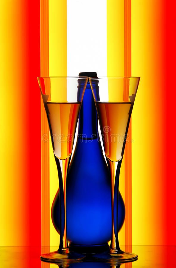 Download Champagne Glasses & Bottle Stock Photography - Image: 17517492