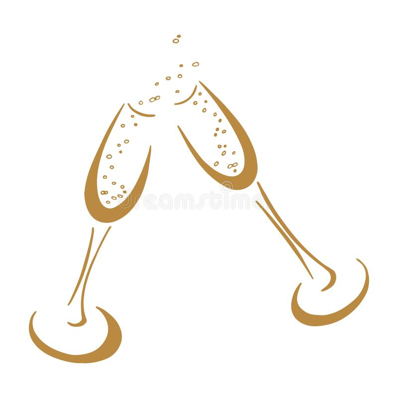 Champagne glasses stock illustration