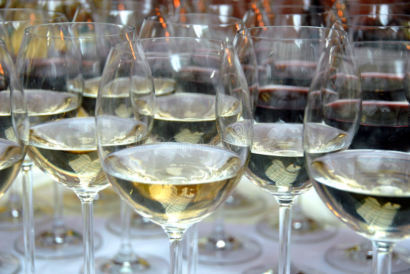 Download Champagne Glasses Filled With Alcohol Stock Image - Image: 4137407