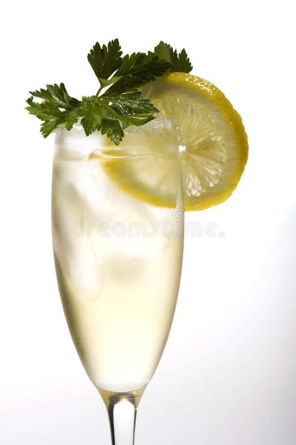 Download Champagne Glasses With Lemon Close Up Stock Photo - Image: 10749230