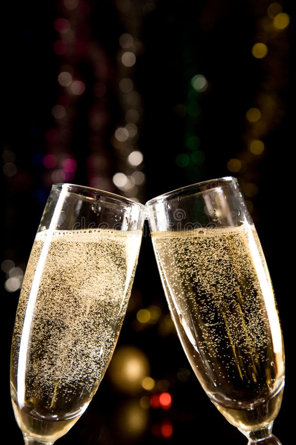 Free Champagne Glasses Making Toast Stock Photo - 6892790