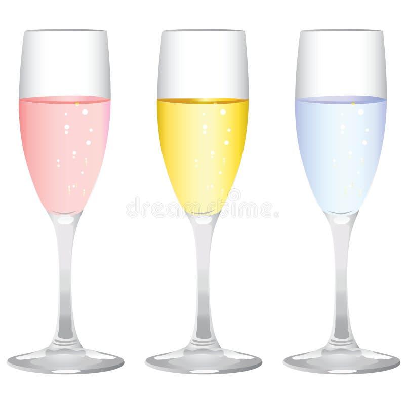 Champagne-Glasvektor lizenzfreie abbildung
