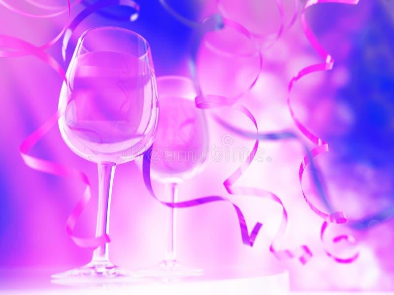 Champagne in glazen stock illustratie