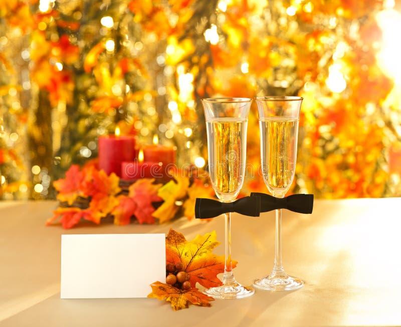 Champagne-glazen royalty-vrije stock foto's