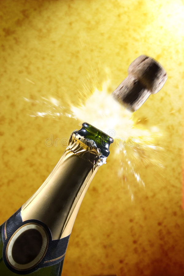 Champagne (gold) royalty free stock photo