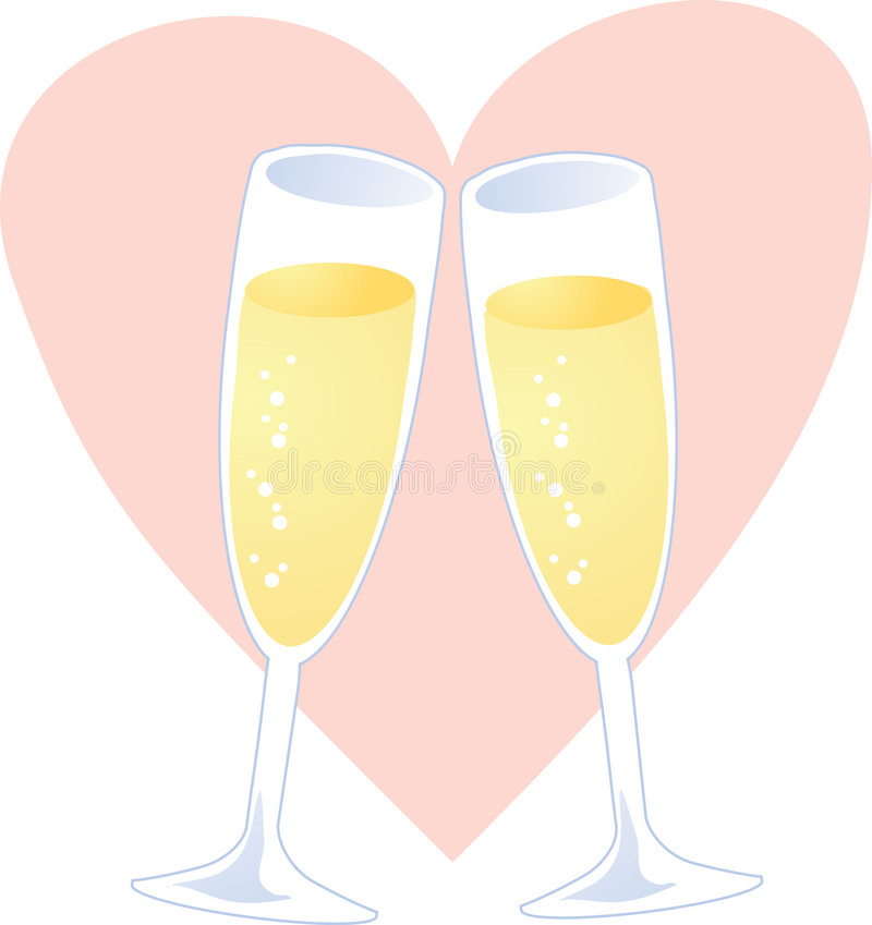 Download Champagne heart stock vector. Image of champagne, drink - 5159647
