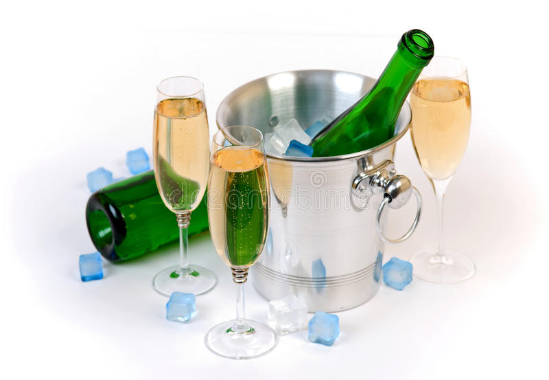 Champagne and Ice stock images
