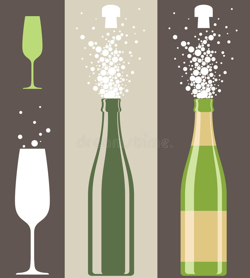 Download Champagne stock vector. Illustration of isolated, party - 40811887
